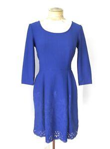 Betsey-Johnson-sapphire-blue-poly-neoprene-knit-dress-cutout-hem-full-skirt-4
