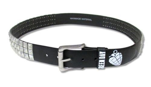 Green Day White Heart Grenades Studded Black Belt New Official Licensed