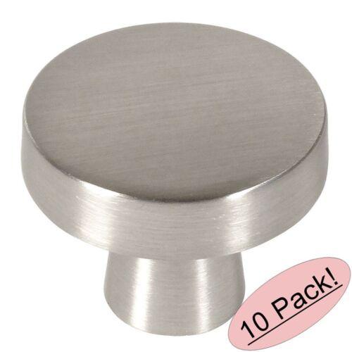 *10 Pack* Cosmas Cabinet Hardware Satin Nickel Contemporary Round Knobs #5234SN