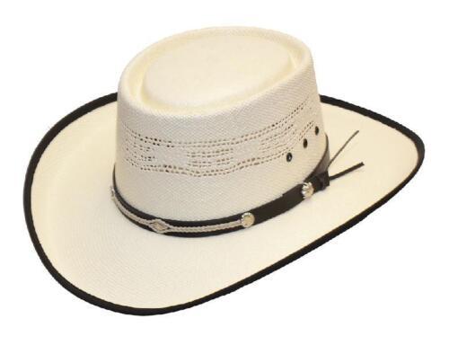 Bangora Straw Western Cowboy Gambler Style Summer Hat
