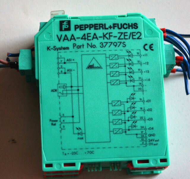 048381 Pepperl Fuchs VAA-4EA-G2-ZE//E2 Interface Coupling Module P//N NEW