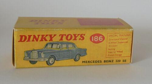 REPRO BOX DINKY n 186 MERCEDES BENZ 220 se