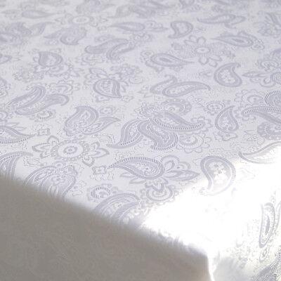 Tischdecke 160 x 130 cm weiss Damast Tafeltuch Tischtuch Jaquard Tischdeko Party