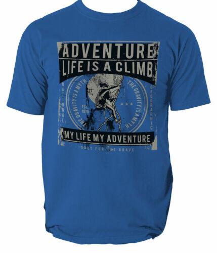Life Is A Climb t shirt mountains gravity climber S-3XL