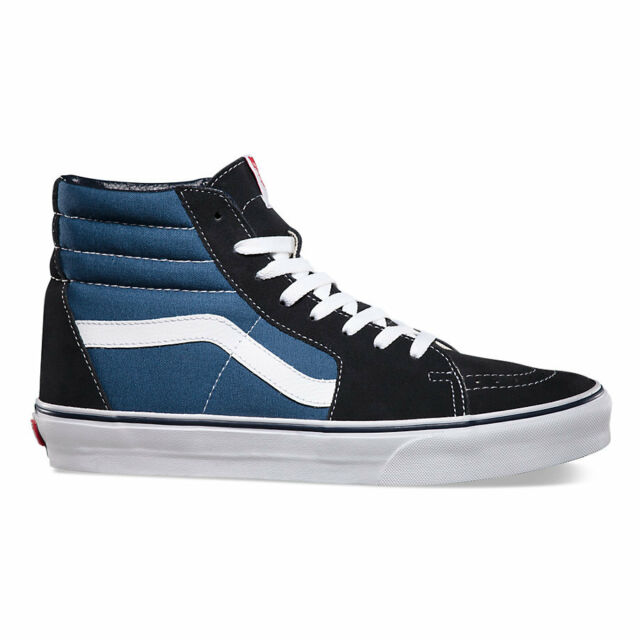 e9323383d5 Vans SK8 HI Navy Skateboarding Shoes Classic Canvas VN-0D5Invy All Sizes  4.5-13