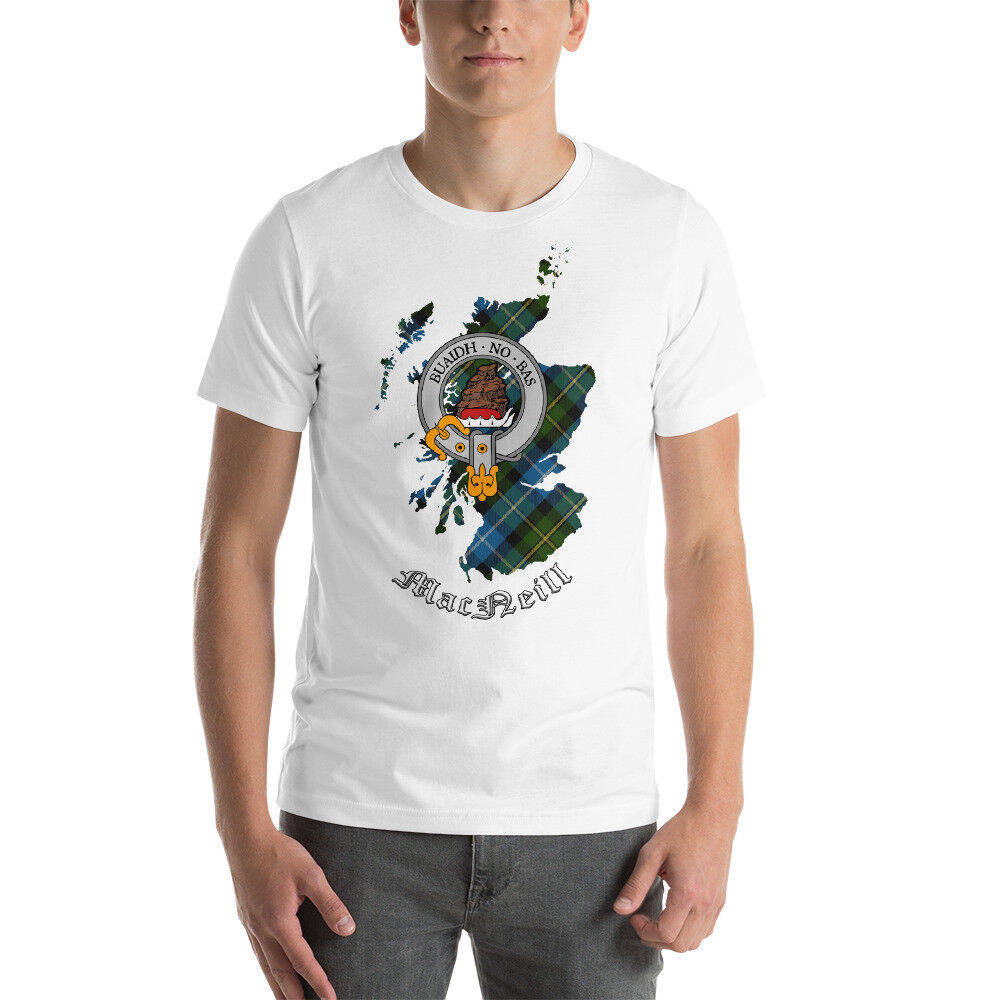 MacNeill Clan T-Shirt - Scottish Heritage Clothing - Scotland Cotton Tee