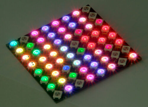 Digi-Dot Panel 8x8hd with 64 x RGB LED sk6812 Mini ws2812b Compatible