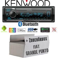 Kenwood aux Bluetooth USB mp3 2din radio del coche para fiat grande punto 05-09 anthraz