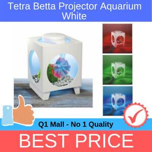 Tetra-Betta-Projector-Aquarium-Tank-White-With-LED-Light-For-Fish-1-8L