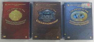 WWE-History-of-the-World-Intercontinental-WWF-Championship-Title-DVD-Boxset-Lot