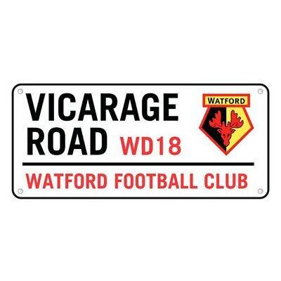 Offizielles Watford FC Vicarage Road Metall-Stra/ßenschild 40 cm x 18 cm