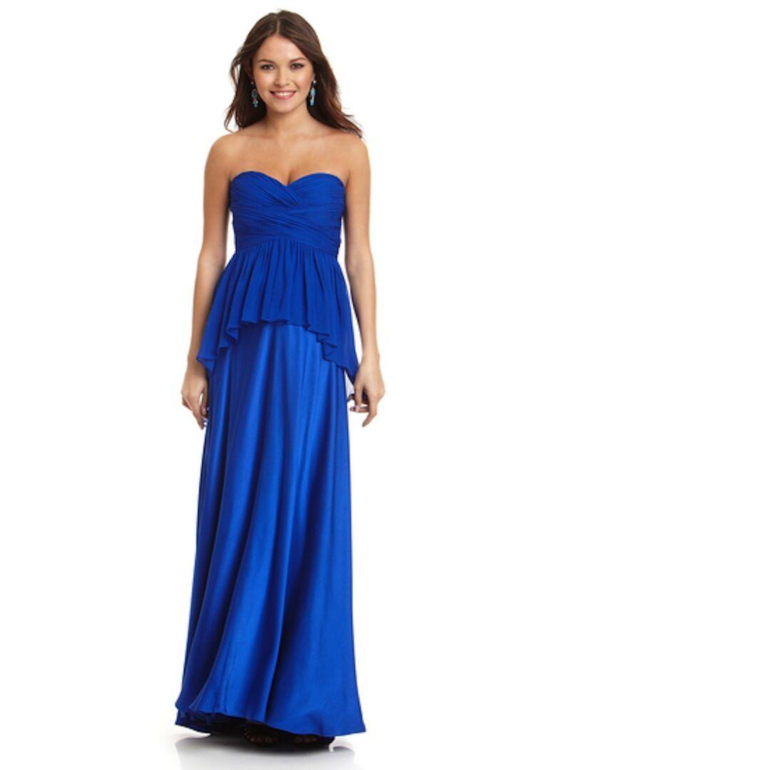 Nwt Aidan Mattox Schönheitswettbewerb Anlass Cocktail Abend Schößchen Kleid Blau