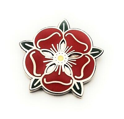 Fast /& Free Delivery T295 Lancashire Red Rose Enamel Lapel Pin Badge