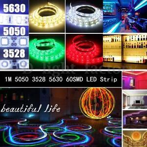 1M-60-LED-3528-5050-5630-SMD-IP65-Etanche-Non-Ruban-Flexible-Strip-Multicolor-NF