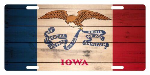 IOWA State Flag  Custom License Plate State Emblem Patriotic  Version