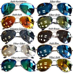 Sonnenbrille Pilotenbrille Verspiegelt Fliegerbrille Pornobrille Brille