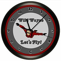 Sky Diving Wall Clock Diver Jump Personalized Airplane Gift