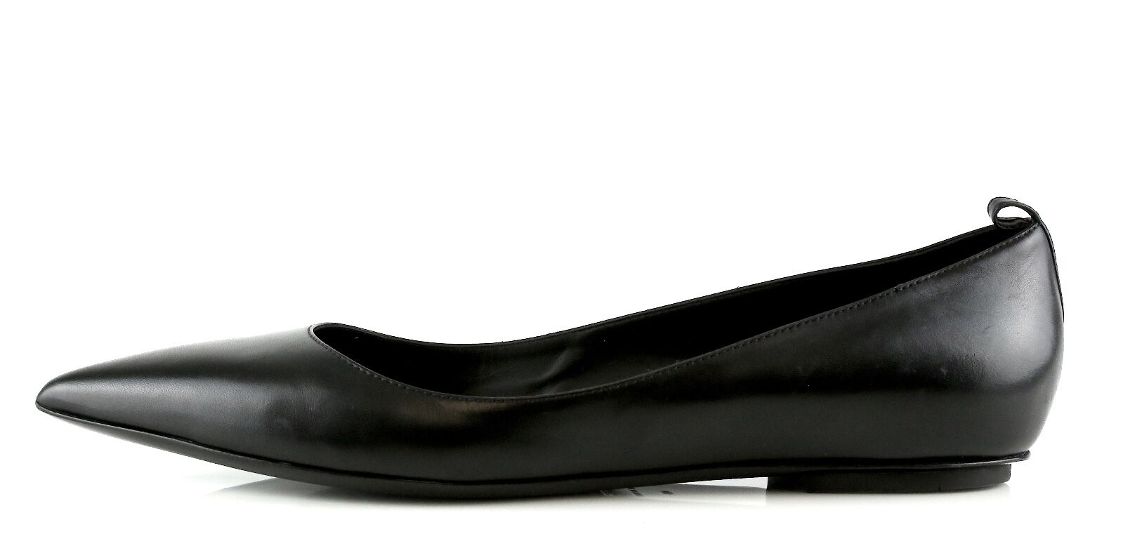 Tom Ford Black Leather Ballerina Padlock Ankle Strap Flats 8866 Size 40 EU