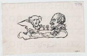 Zeichnung-fuer-die-JUGEND-1919-Karikatur-Bluecher-amp-Wellington-Arpad-Schmidhammer