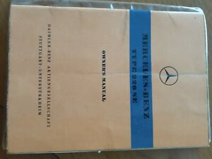 MERCEDES-BENZ-TYPE-220-SE-OWNERS-MANUAL-CONVERTIBLE-COUPE-Ponton-EDITION-A-W111