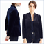 J-Crew-Womens-Blazer-14-Velvet-Blue-Going-Out-Stretch-Open-NWT-Style-K2627 thumbnail 1
