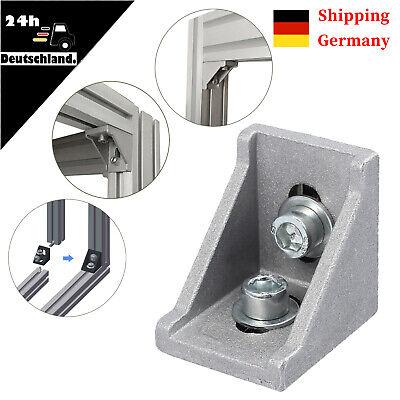 40 /× Befestigungsmaterial Winkel Befestigung 30x30 Nut 8 Aluprofil Raster Streben