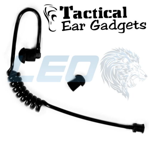 Tactical Ear Gadgets™ Black Coiled Acoustic Audio Tube with Eartip