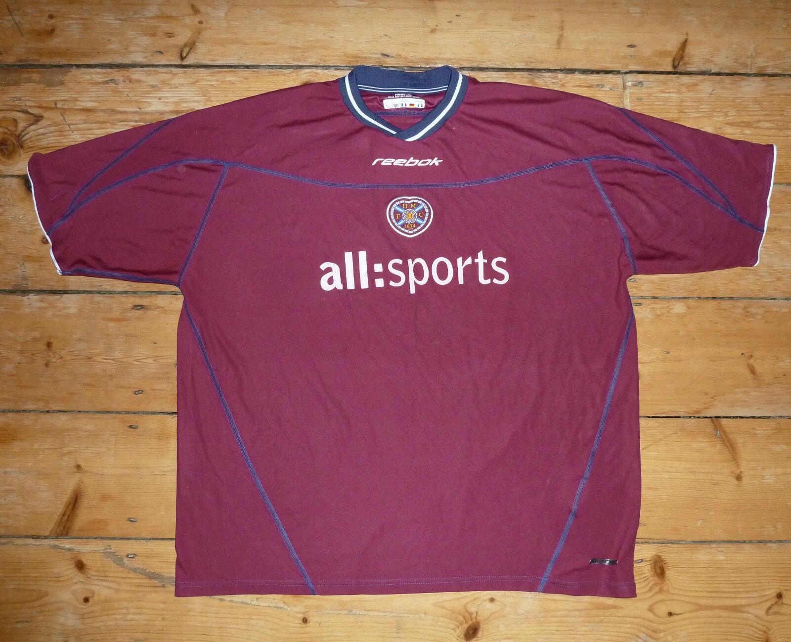 Dimensione 3XL Heart Of Midlothian hearts football shirt soccer jersey Jambos 200203