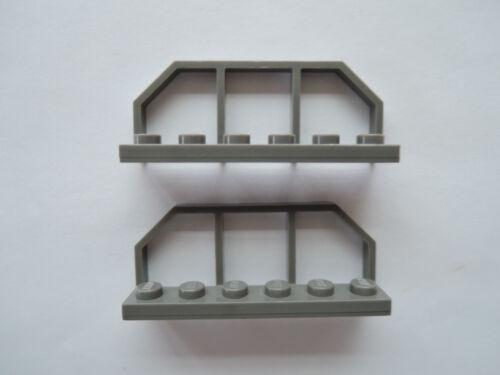 LEGO 2 X ferroviaire garde-corps 6583 Vieux Gris Foncé 1x6 10013 6636 3225 5975