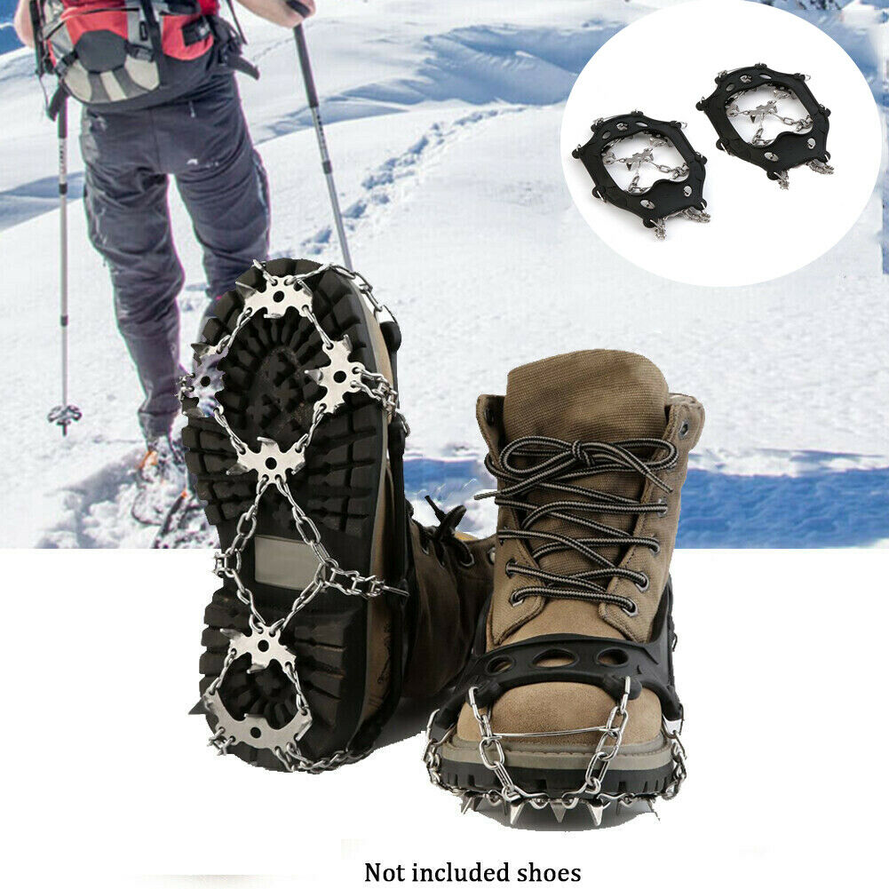 OUTAD TPR Winter Hiking Ice Climbing Crampons Snow Chains For Shoes MF