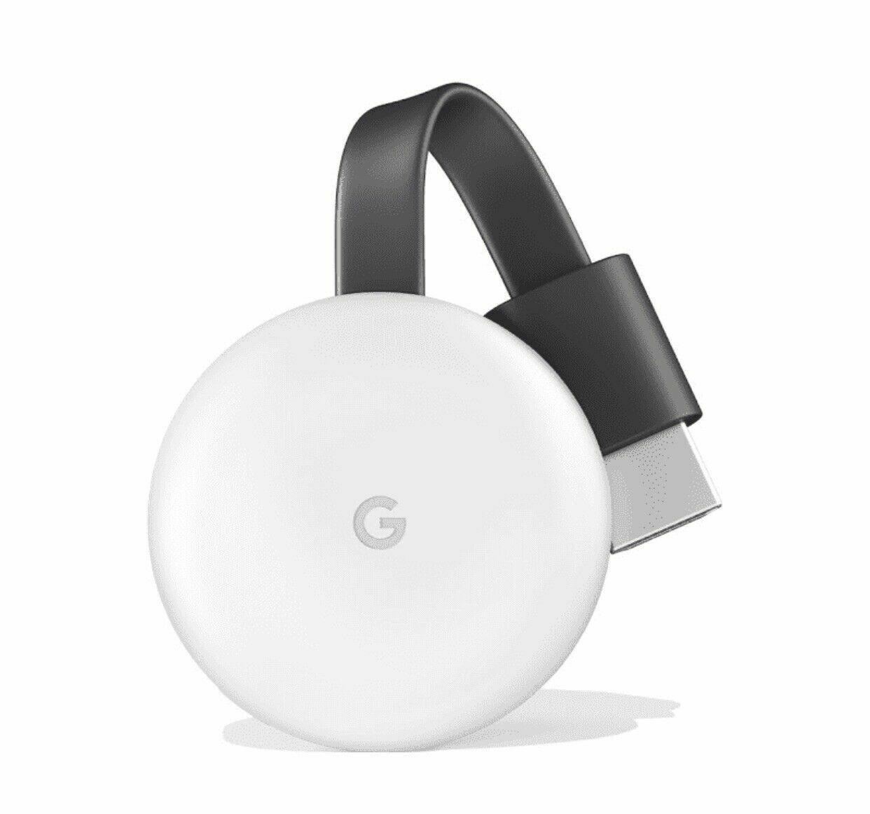 Google Chromecast 3rd Generation  (Latest Model) Streaming Media Player - Chalk Featured