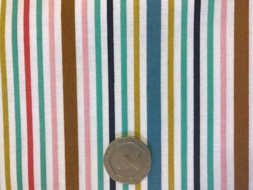 More 100/% Cotton 56cmx45cm Bake Awning Stripes Michael Miller Fabric FQ