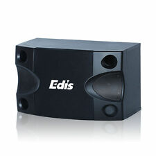 Two Edis E525 100W LOUDSPEAKERS + wall brackets. Group Pub Hall Church School