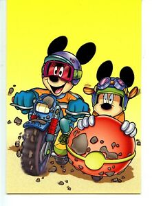 Details about Disney Mickey Mouse Character Motorcycle-Sidecar-Modern Italy  Postcard