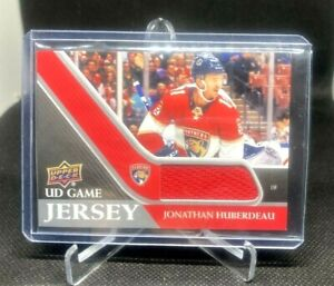 2020-21 UD Series 1 Game Jersey Relic #GJ-JH Jonathan Huberdeau  - FLA Panthers