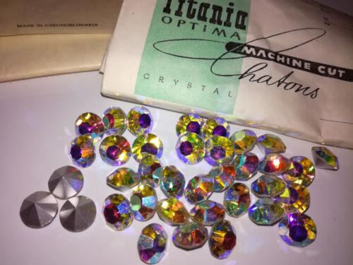 12 x SS47 11mm Strasssteine Glitzersteine Rhinestone Titania Crystal Chaton #238