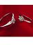 WOMENS LADIES SILVER RING SET 2 PEICE SIMULATED DIAMOND PREMIUM QUALITY