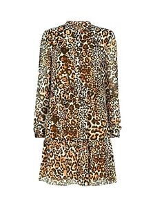 Whistles-Brown-Leopard-Mini-Shift-Tunic-Smock-Shirt-Occasion-Party-Dress-4-To-16