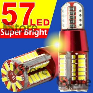 2-Veilleuses-Red-Style-LED-T10-ampoules-57smd-Canbus-BLANC-ANTI-ERREUR-Lampe