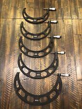 Starrett No436 Micrometers 7 12 Range 001 Steel Anvils