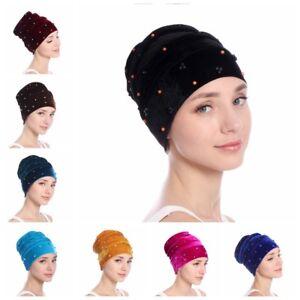 Head-Wrap-Hair-Accessories-Scarf-Chemo-Hat-Turban-Muslim-Velvet-Cap