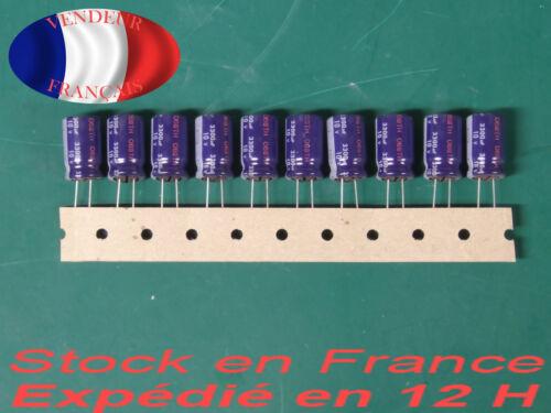 PANASONIC 3300 uF 10 V condensateur capacitor X10  85°C marque//brand