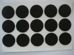 Lote-de-1000-tapa-tornillos-adhesivos-en-negro-diametro-13mm