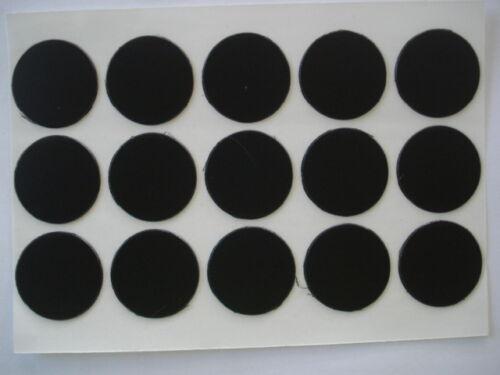 Lot de 100 cache vis adhésifs coloris noir diamètre 13mm