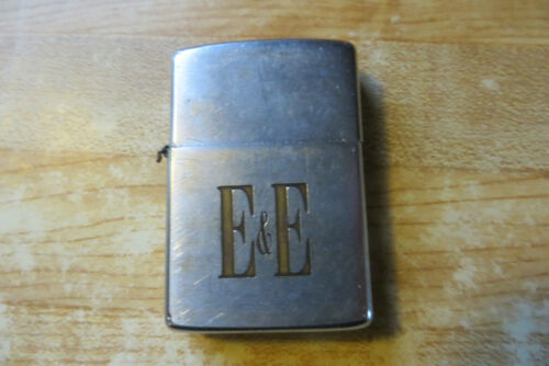 E & E brand Victor L Suits Pat.2517191 advertising old logo zippo lighter vtg
