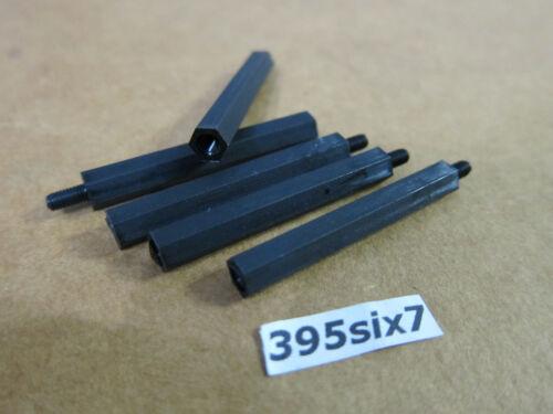 40mm 10x Nylon Standoff Spacer M3 Male x M3 Female Black Color