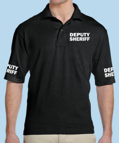 Deputy Sheriff Business 50\50 Dryblend Classic Black Polo Shirt Professional