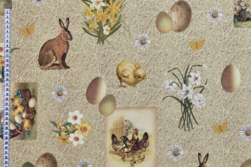 Vintage Postcards Chicks Easter Fabric Bunnies Eggs /& Spring Flowers
