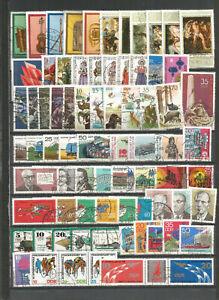 DDR-Jahrgang-1977-gestempelt-alle-Einzelmarken-aus-Block-ZD-gute-Stempel