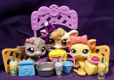 Littlest Pet Shop~#476~Cow~White Brown~Pink Collar~Orange Flower Eyes~Milk Jug